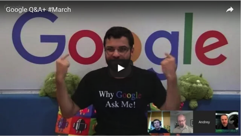screenshot of Google Q&A #March