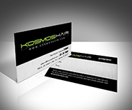 kosmos hair salon busines card